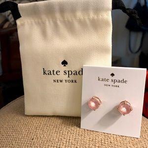 NWT Kate Spade Blush & Rose Gold Studs